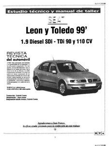 PerséVéRant Estudio Técnico Y Manual De Taller Seat Leon Y Seat Toledo 1999, En Cd Belle Apparence