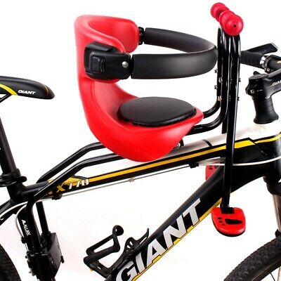 Baby Bicycle Kids Child Front Seat Bike Pedal Carrier Safety Chair w// Handrail