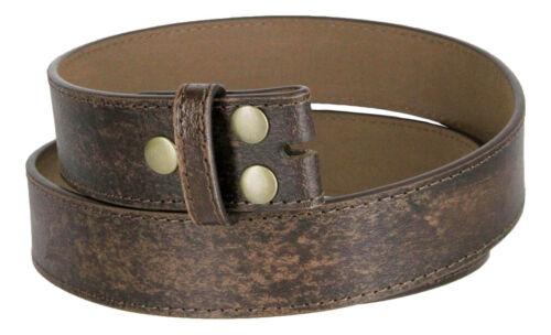 "Dark Brown Vintage Distressed Style Genuine Leather Belt Strap 1-1//2/"" Wide"