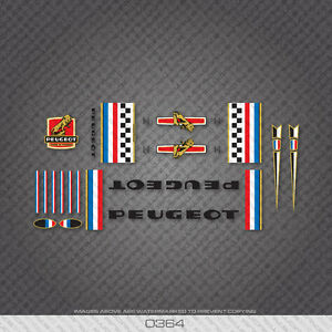0364-Peugeot-Bicycle-Frame-Stickers-Decals-Transfers