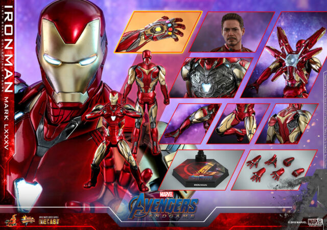HOT TOYS AVENGERS ENDGAME IRON MAN MARK 85 LXXXV 1:6 DIECAST FIGURE ~SEALED~