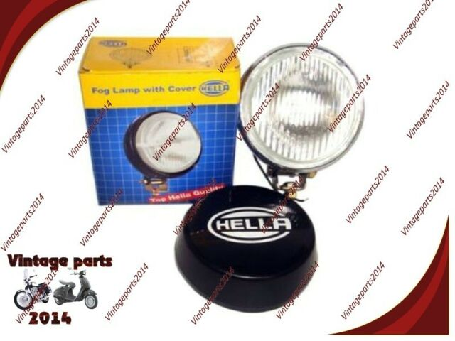 New Universal Hella 12V Round Fog Lamp Clear Glass + Cover Without Bulb