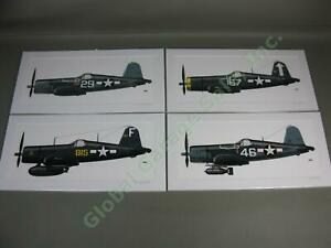 4-US-Navy-WWII-Chance-Vought-Corsair-F4U-Airplane-Art-Print-Jolly-Rogers-Kepford