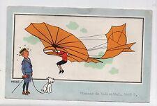 Tintin. Chromo Voir et Savoir. AVIATION n°7. Planeur de Lilienthal.