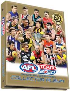 2020-AFL-TEAMCOACH-TRADING-BLANK-ALBUM-FOLDER-TEAM-COACH-HOLDS-234-CARD-IN-STOCK