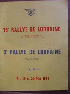 2019 Nouveau Style Programme Rallye Automobile Lorraine 1973 31 Pages MatéRiaux Soigneusement SéLectionnéS