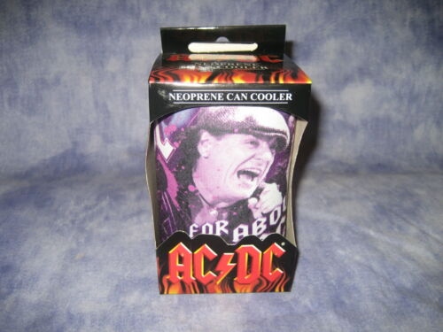 In giftbox NEW! AC//DC Can Cooler Drink Insulator Purple12cm Stubbie Holder