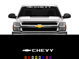 Chevy Logo Front Windshield Decal Sticker Fits Chevy Trucks Cars - Chevy windshield decals trucks