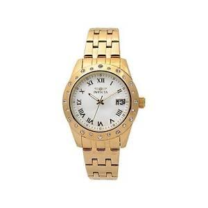 Invicta Women's 17488 Angel Quartz 3 Hand White Dial Watch