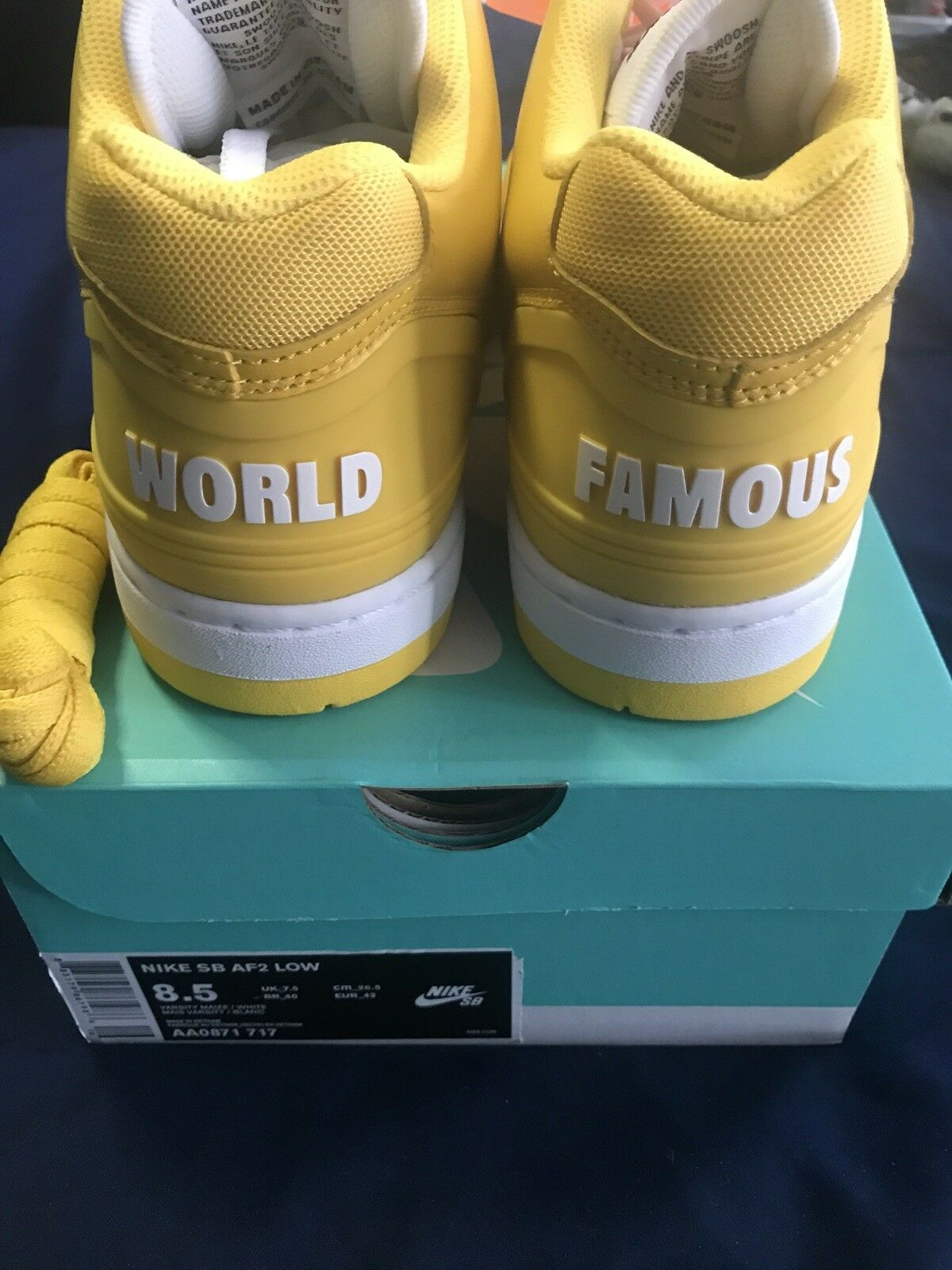 Supreme Air Force 2 Yellow Size 8.5