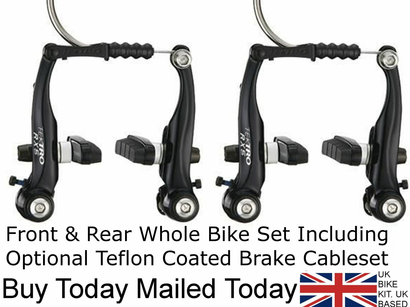 (PAIR) Tektro RX5 Mini V Brake Calipers For BMX   Drop Bar Standard Levers