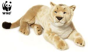 Peluche lionne Wwf (couchée, 81 cm) Peluche ressemblant à un gros chat Nouveau