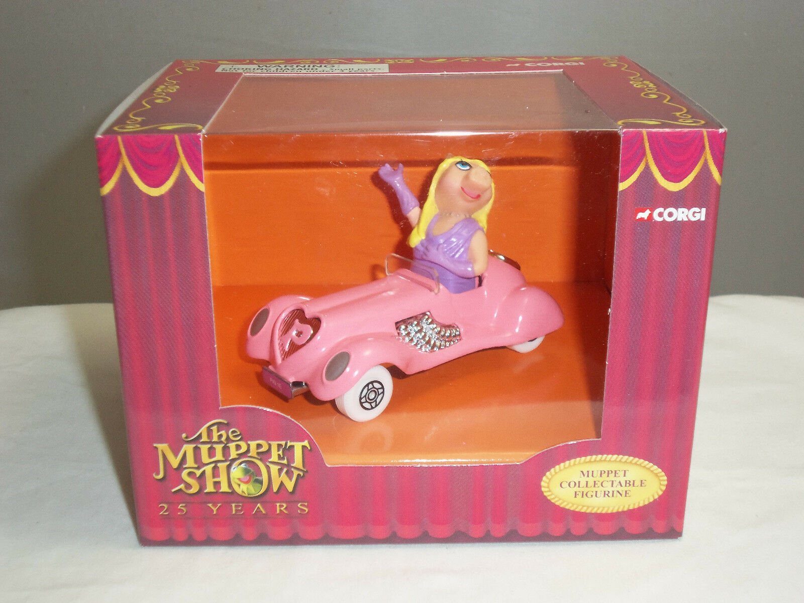 Corgi cc06603 jim henson muppets miss piggy - figur ein diecast modell Rosa auto