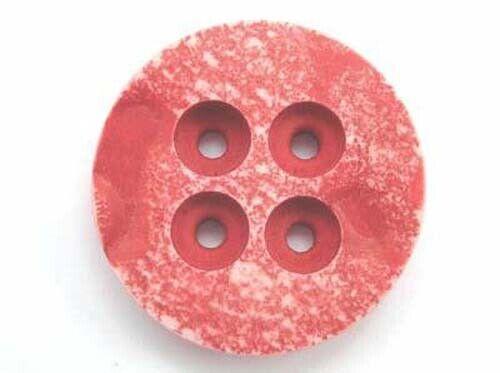 23.5mm diámetro Un botón de diseño moteado rojo de plástico 4mm de espesor 23