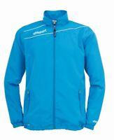 Uhlsport Kids Presentation Sports Football Breathable Zip Jacket Top Junior Cyan