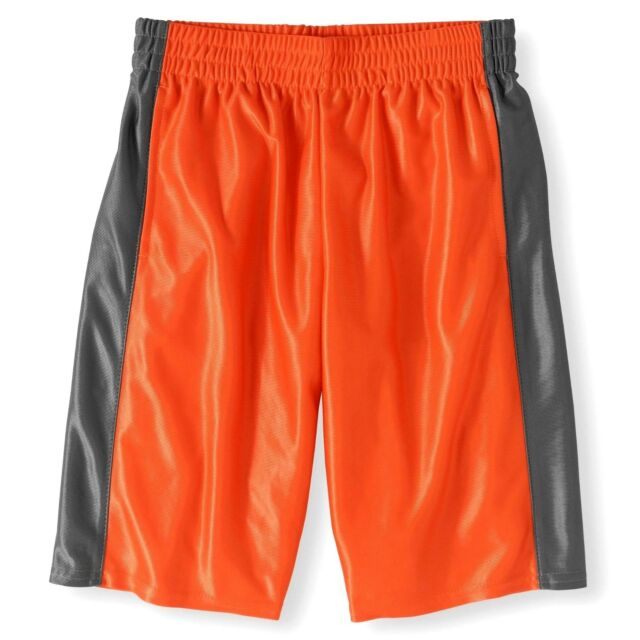 Athletic Works Boys Active Dazzle Shorts X-Small 4-5 Orange Opulence NEW  for sale online