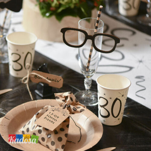 10 Bicchieri di carta Party 30 Anni Buon Compleanno Party Festa Happy Birthday