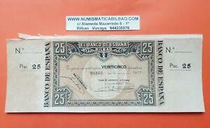 MATRIZ-ORIGINAL-BILBAO-25-PESETAS-1937-CAJA-DE-AHORROS-VIZCAINA-Pick-S-563