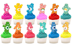 Care Bears PRE-CUT Edible Wafer Cupcake Cake Toppers ...