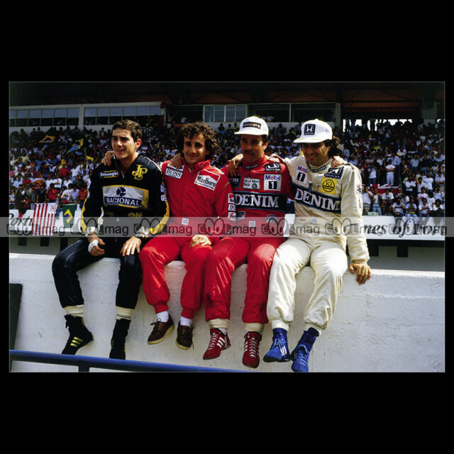 #pha.014324 Photo AYRTON SENNA ALAIN PROST NIGEL MANSELL NELSON PIQUET F1 Auto