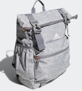 Brand-New-Adidas-Gym-Yoga-Travel-Laptop-Backpack-Rose-Gold-Pulls-Yoga-Mat-Straps