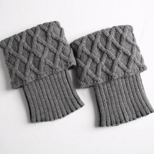 Women Ladies Crochet Leg Warm Knit Cuffs Toppers Boot Socks Leggings Soft Cover