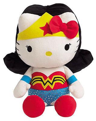 "HELLO KITTY x DC Comics WONDER WOMAN 16"" Plush JEMINI Sanrio FRENCH Exclusive"