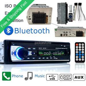 Radio-Coche-Bluetooth-In-Dash-12V-SD-USB-AUX-FM-Estereo-MP3-Reproductor-I-DIN