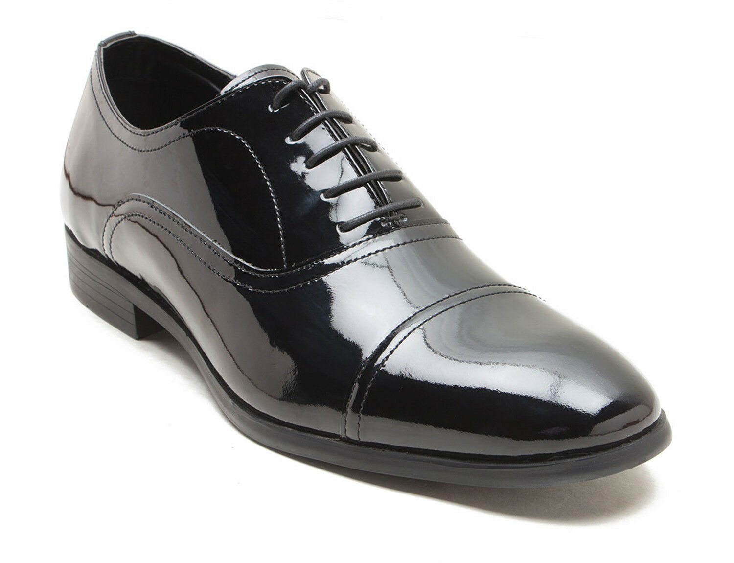 Red Tape Shoes Boston Black Patent Leather Mens Formal Shoes Tape  RRP ! a93853