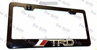 Tundra Trd 3d Emblem Black Stainless Steel License Plate Frame Rust Free W/ Cap