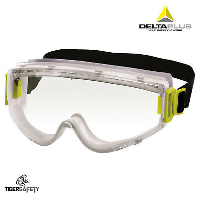 Delta Plus RUIZ1 Clear Polycarbonate Lens Indirect Vent Work Wear Safety Goggles