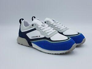 on sale 381b7 99b09 Details about Scarpe uomo sneakers CESARE P. BY PACIOTTI PETOV1515MRNB33  bianco blu grigio