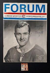 1966-Montreal-Canadiens-TICKET-STUB-amp-PROGRAM-vs-Toronto-Maple-Leafs