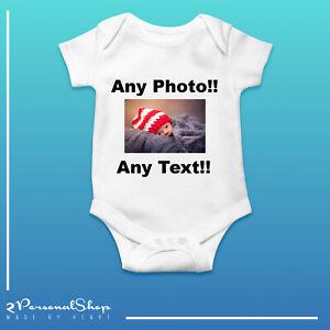 Personalised-Photo-Baby-Grow-Vest-Bodysuit-Girl-Or-Boy-Perfect-Gift-Custom