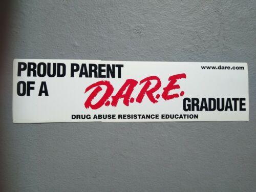Vintage Proud To Be A Parent of a DARE Graduate Bumper Sticker
