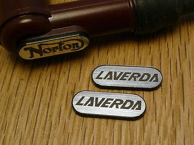 LAVERDA NGK Spark Plug HT Cap Cover Self Adhesive BADGES 22mm Pair Classic Bike