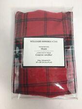 NWT Williams Sonoma Home Tartan King sham stewart plaid red ivory $99