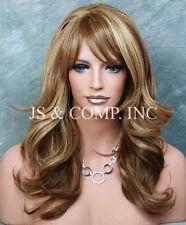 Heat Safe Ombre Blonde Brown Tangerine mix Wig Wavy JSHB 2216