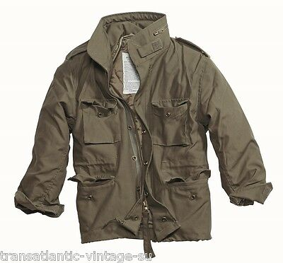 M65 FIELD JACKET WITH QUILTED LINER VINTAGE MILITARY COAT ARMY MENS COMBAT OLIVE