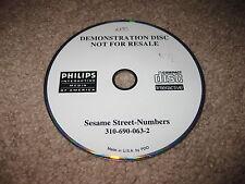 Sesame Street Numbers - Philips CD-i - Demonstration Disc Not For Resale