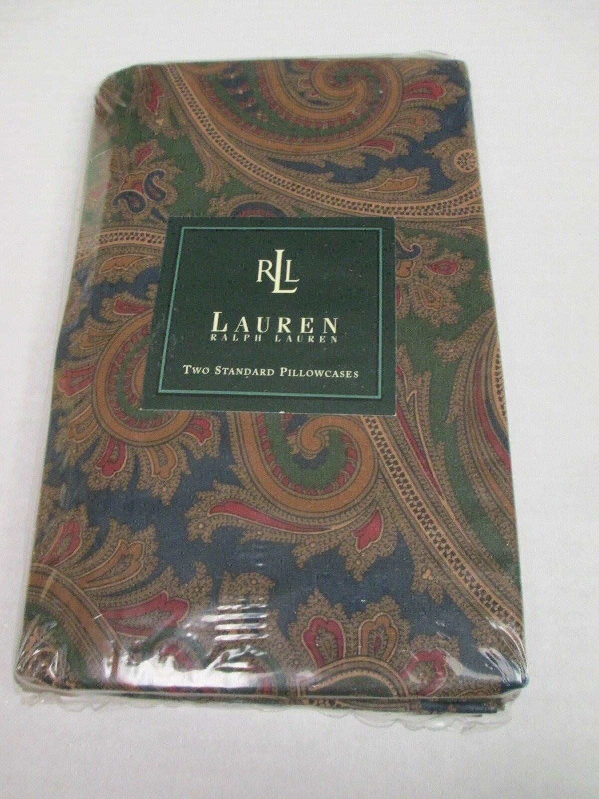 New Ralph Lauren Brianna Paisley rot Blau Grün Grün Grün 2 Floral Standard Pillowcases a1f8b5