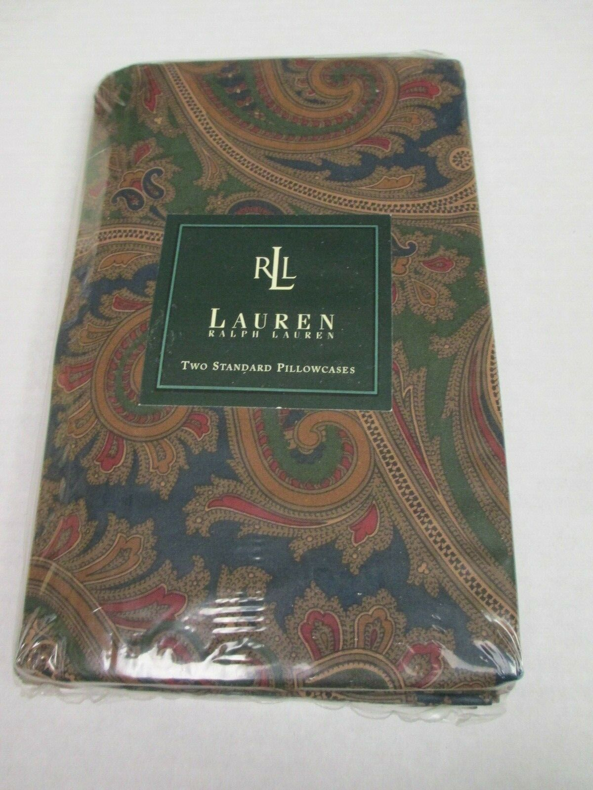New Ralph Lauren Brianna Paisley rot Blau Grün 2 Floral Standard Pillowcases