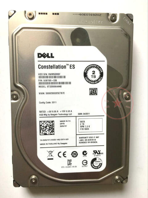 DELL ST32000644ns /2TB/SATA enterprise class server hard disk 3.5 inch 7200 turn