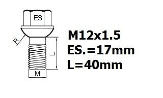 MERCEDES SLK CLASS 1996-2004 WHEEL LOCKING NUTS OEM M12x1,5 ALLOYS