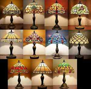 Tiffany style lighting 12inch lights handcrafted table lamp desk image is loading tiffany style lighting 12inch lights handcrafted table lamp mozeypictures Images