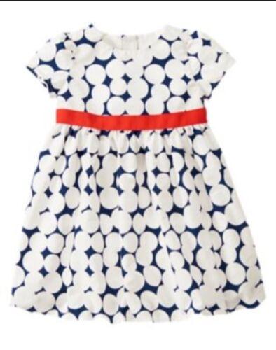 GYMBOREE MOD ABOUT ORANGE NAVY w// WHITE POLKA DOTS DRESS 12 18 3T 5T NWT
