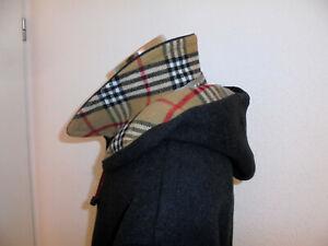 Kaschmir Mantel Wolle vintage klassischer Wollmantel schwarz Schurwolle 54 L/XL