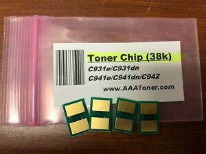 4-Toner-Chip-for-use-in-OKI-C900-series-C931-C941-C942-38k-Refill