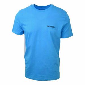 Nautica-Men-039-s-Turquoise-Logo-S-S-Tee