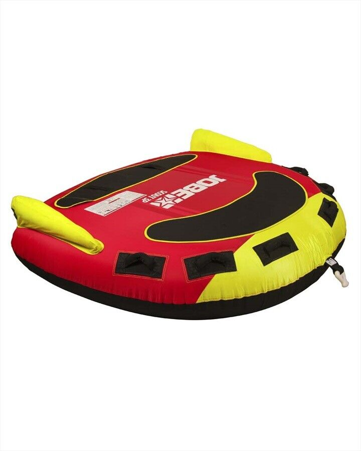 2019 Jobe Scout Series Towable Inflatable Tube, 2 or 3 Rider Red Yellow. 49266